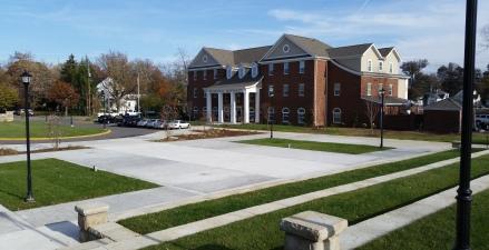 Farmhouse Fraternity adjacent to Greek Park