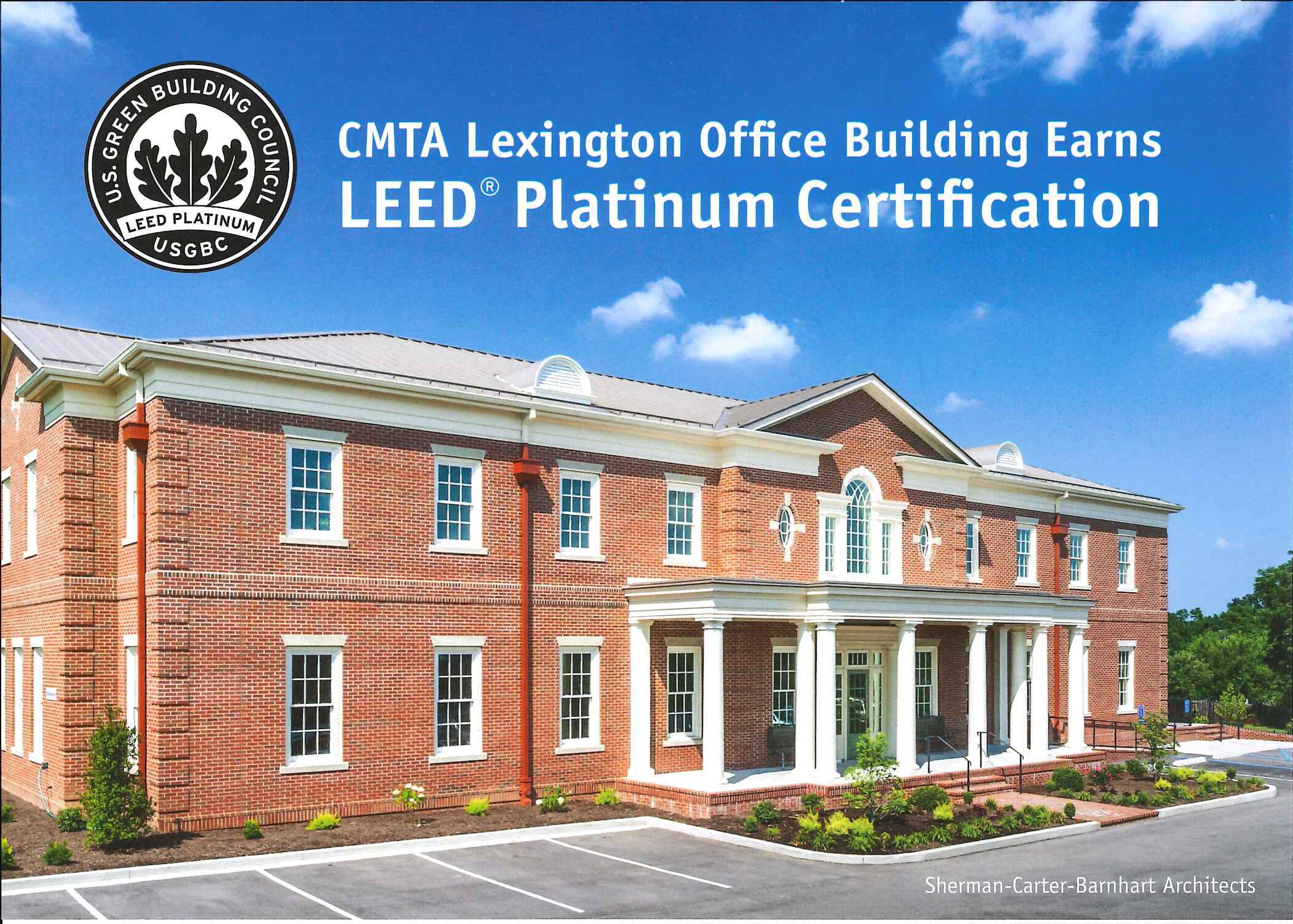 Sherman Carter Barnhart CMTA Lexington Office Building Earns