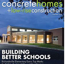 Concrete homes+low rise construction: Building Better Schools