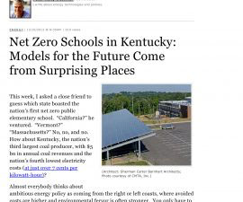 Forbes Magazine: Net Zero Schools in Kentucky: Models for the Future Come from Surprising Places