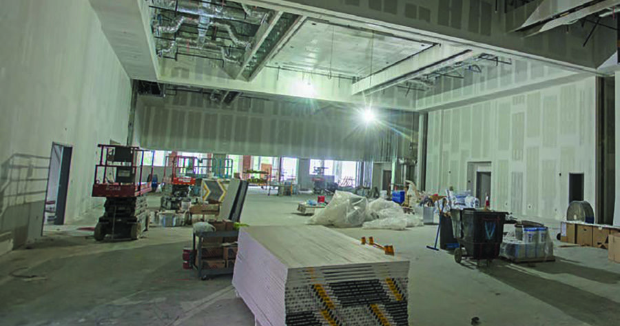 Morehead Student Center Interior Space Under Construction