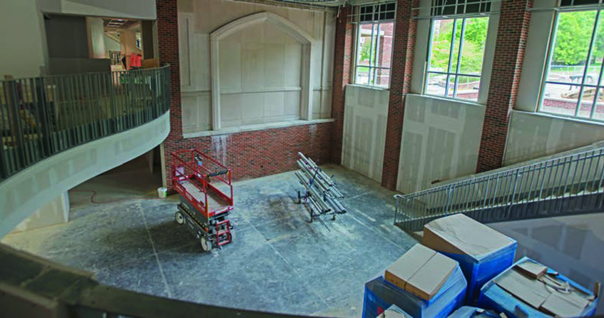 Morehead Student Center second story overlooking new sports pub