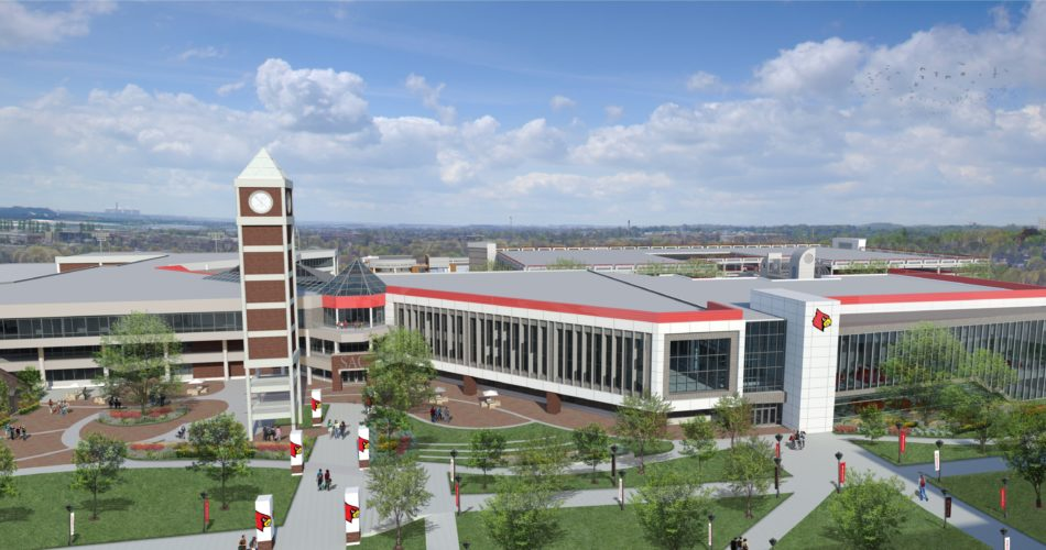 Updated Student Activities Center with iconic clock tower