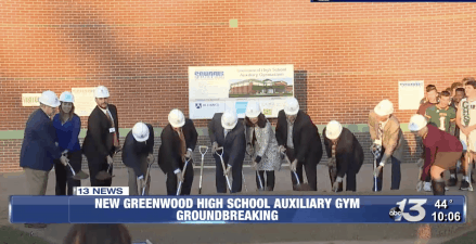 Greenwood High School Breaks Ground on New Auxiliary Gymnasium